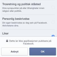 Tinder-glipp - ba om tilgang til politisk ståsted og trosretning