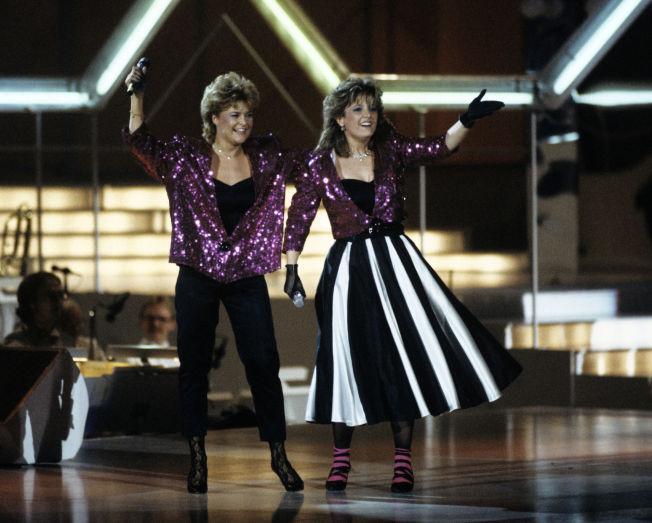 <p>TIL TOPPS: Elisabeth Andreassen (t.v) og Hanne Krogh vant Eurovision Song Contest for Norge.<br/></p>