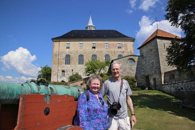 <p>NORGESBESØK: Bruce og Eliszabeth Severeid fra Washington er to av de mange amerikanske turistene som kommer til Norge. Foto MONA LANGSET</p>