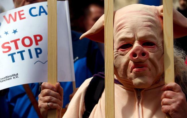 <p>JA TIL HANDEL: Motstanderne av TTIP setter agendaen. Her fra en demonstrasjon i Munchen.<br/></p>
