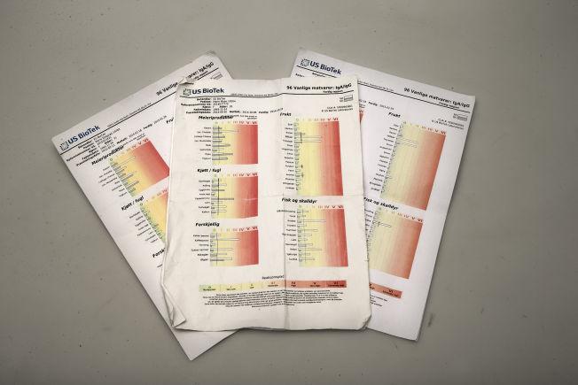 <p>LIKE TESTER - ULIKE RESULTAT: Dette er BioTek-testene, som skal avsløre matintoleranse, som ble tatt på privatklinikker.<br/></p>