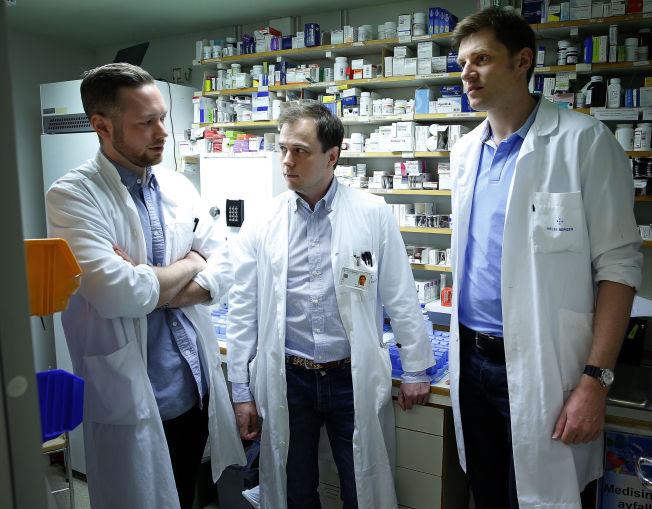 Studier viser at vanndrivende medisin øker dødeligheten dramatisk. Her legene bak forskningen: Gard Frodahl Tveitevåg Svingen (til høyre), Hall Schartum-Hansen ( i midten) og Kjetil Halvorsen Løland (til venstre) FOTO: HALLGEIR VÅGENES, VG