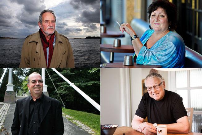 <p>LURERI: Hverken Jon Michelet, Anne B. Ragde, Jan Kjærstad eller Roy Jacobsen visste at fjorårets bøker ikke lenger får lov til å være med på den offisielle boklisten i Norge.<br/></p>