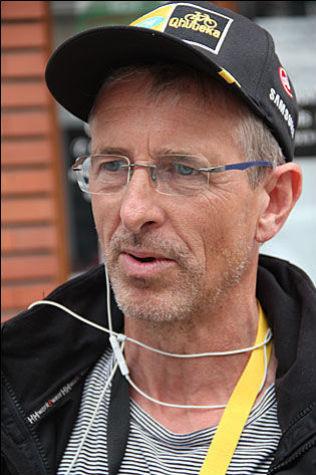 EDVALD-TRENER: Fredrik Mohn, her etter målgang på den fjerde etappen av Tour de France 2015.