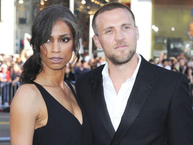 <p>SAMBOERE: Tobias Santelmann og Jennifer Bråthen på premieren til «Hercules» i Los Angeles for et år siden.<br/></p>