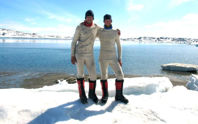 <p>EVENTYRLYSTNE: Dette viser begge gutta på Grønland.</p>