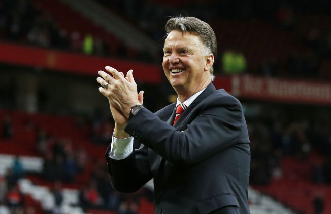 <p>LOUIS VAN GLAAD: Manchester United-treneren har god grunn til å smile etter Champions League-trekningen.<br/></p>