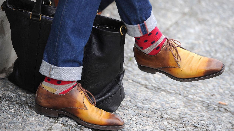 Gå inn skoene med våte sokker Mote