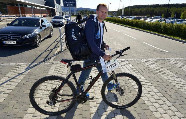 <p>FRISKUS: Hætta kom rett fra å ha syklet Birken da han møtte VG.</p>