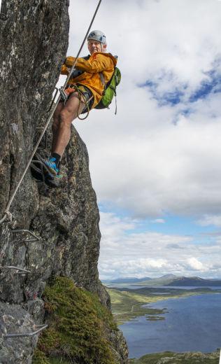 <p>INITIATIVTAKEREN: Tor Erik Grønolen har vært pådriveren for å få en Via Ferrata på Synshorn.<br/></p>