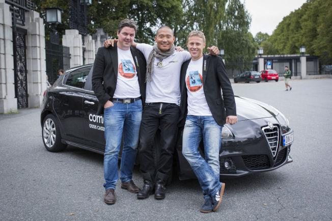 <p>PÅ TUR IGJEN: F.v: Øystein Djupvik, Tay-young Pak og Gunnar Garfors er klare for nytt stunt.<br/></p>