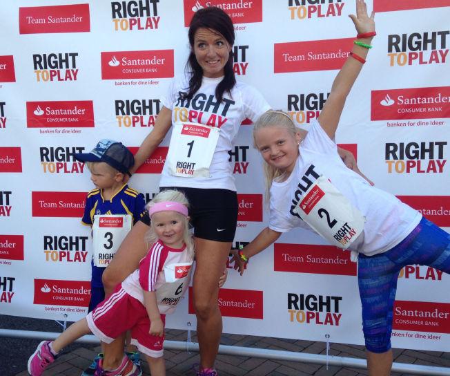 <p>ULTRA-MAMMA: Jeanette J. Vika (36) vil forsøke å sette nordisk rekord på tredemølle fra fredag formiddag til lørdag formiddag. Målet til trebarnsmoren er 184 kilometer i løpet av 24 timer. Her med barna Aksel (5), Eline (3) og Selma (8).<br/></p>