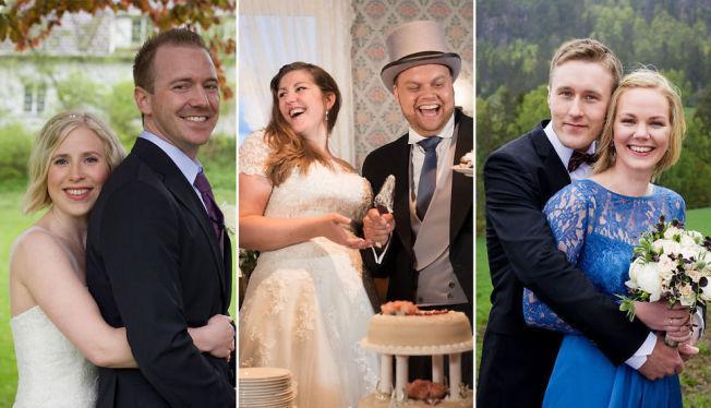 <p>NYGIFT: Disse tre parene giftet seg ved første øyekast i vår.</p>
