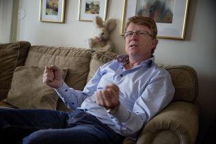 <p>VIL KUTTE EKSPORT: Oskar Grimstad i Fremskrittspartiet er enig med Leidal om at avfallseksporten til Sverige må kuttes.<br/></p>