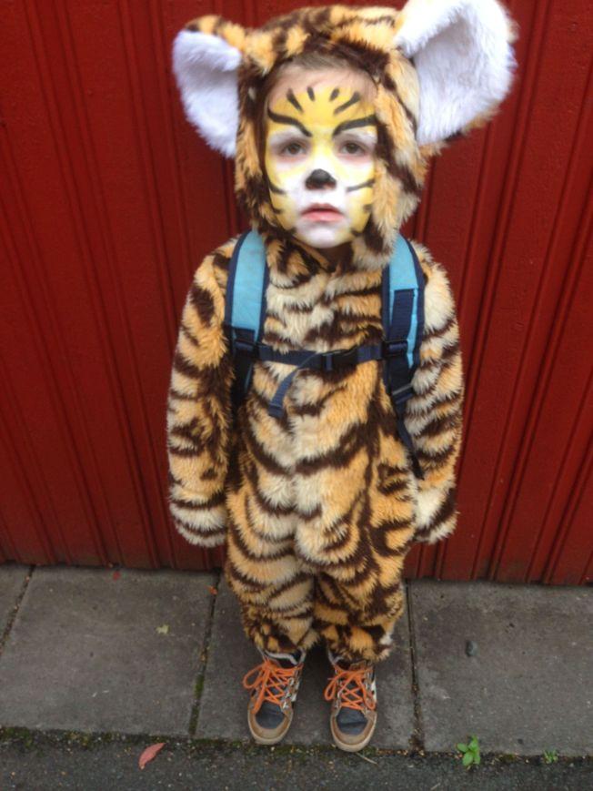 <p>TIGERGUTT: Tidemann skal enten være zombie eller tiger. Han har ikke bestemt seg helt ennå.<br/></p>