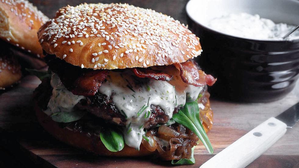Enkelt hamburger