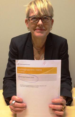<p>FJERNER MÅLINDIKATORER: Kartleggingsprøver blir fjernet som målstyrings-verktøy for utdanningsdirektør Astrid Søgnen neste år.<br/></p>