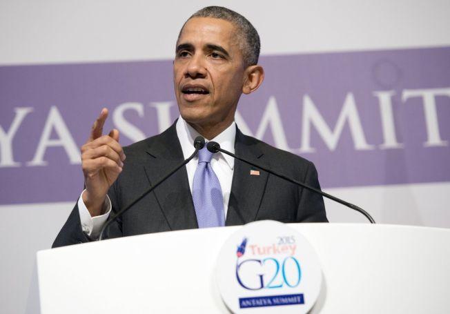 <p>ØNSKER IKKE BAKKESTYRKER: USAs president Barack Obama talte mandag under en pressekonferanse i Tyrkia.<br/></p>