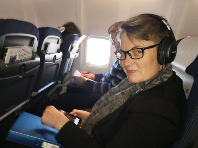 <p>I SPISSEN: Klima- og miljøminister Tine Sundtoft på vei til miljøkonferansen i Paris i forrige uke.</p>