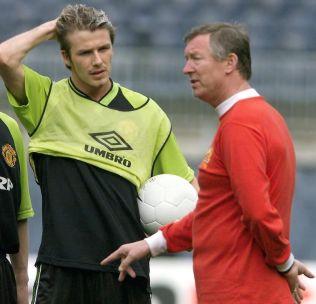 <p>IKONER: David Beckham og Alex Ferguson, her i forkant av Champions League-finalen i 1999, som Manchester United vant.</p>