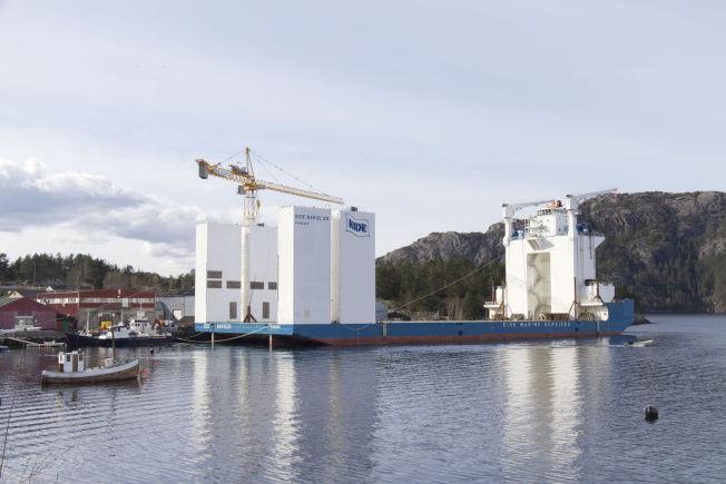 """LØPSK: Dette er lekteren """"Eide Barge 33"""". Bildet er tatt ved en tidligere anledning."""