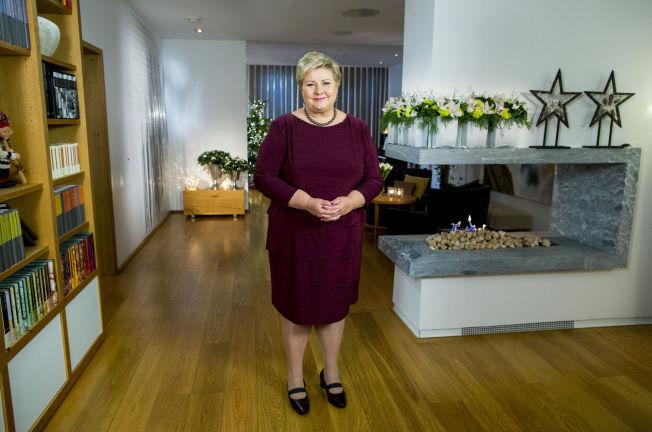 <p>FOKUSERTE PÅ FLYKTNINGER: Erna Solberg fokuserte i stopr grad på flyktningkrisen i årets nyttårstale.</p>