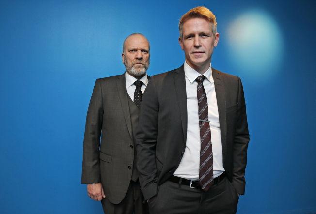 <p>LAVERE ENN VENTET: Seertallene for første episode av sesong to av «Mammon» var lavere enn forventet. Trond Espen Seim og Ingar Helge Gimle (t.v.) spiller henholdsvis stats- og finansminister i tv-serien.</p>