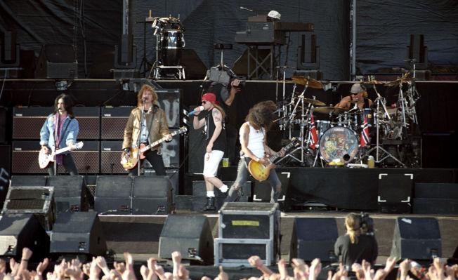 <p>KLASSISK ROCK: Guns n' Roses på Valle Hovin i 1993.</p>