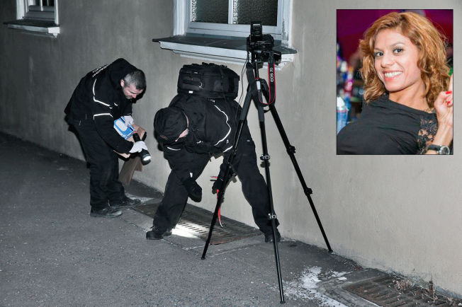 <p/> <p>SIKRET BEVIS: Krimteknikere fra Oslo politidistrikt kjørte mandag kveld rundt i hovedstaden og lette etter bevis som den drapssiktede mannen (24) hadde påvist. Her finner de mobilen til offeret Galina Sandeva (28) – vel 100 meter fra siktedes bolig.</p>