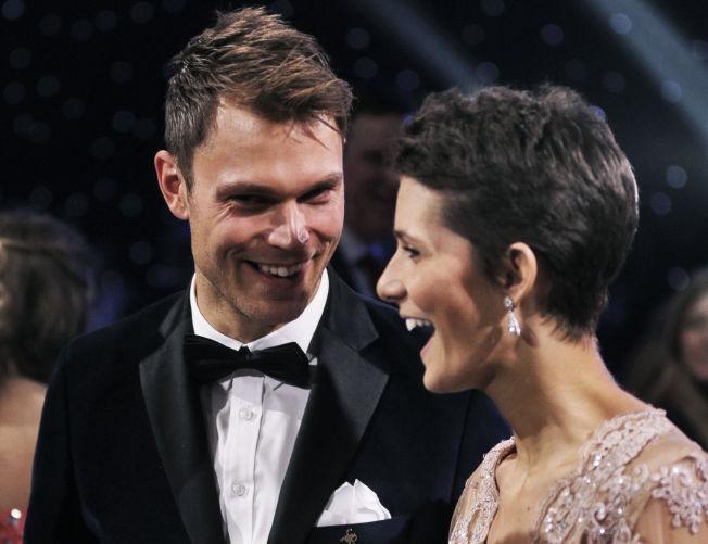 IDRETTSGALLA: Andreas Mikkelsen og Margrethe Meiner er på plass. Rallystjernen er nominert i åpen klasse.