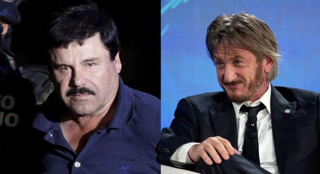 <p>GANGSTEREN OG STJERNEN: <i>Joaquin Guzman</i> og Sean Penn er begge verdenskjente, på hver sin måte.</p>