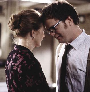 <p>TV-ROLLE: Rainn Wilson og motspiller Frances Controy i «Seks fot under» (2001-2005).</p>