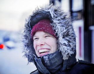 <p>FORNØYD I KULDEN: Anne Mone Nordahl.</p>