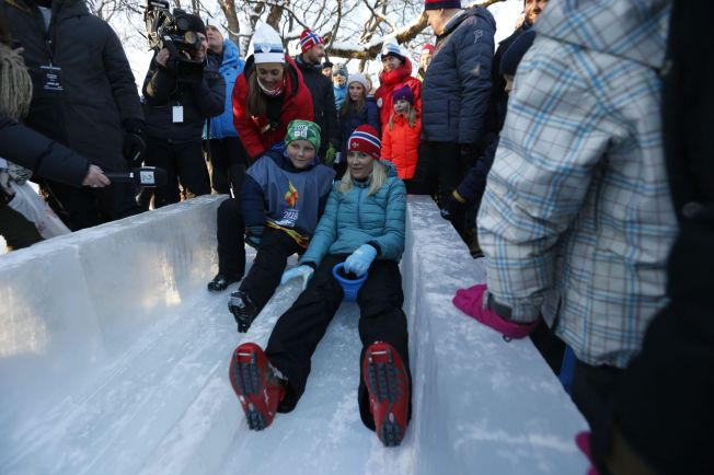 <p>AKING: Kronprinsesse Mette-Marit og prins Sverre Magnus.</p>