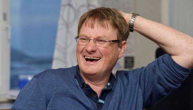 <p>GLALAKS: Inge Berg sier han og Bjørn Kjos i hvert fall har en ting til felles: God humør.</p>