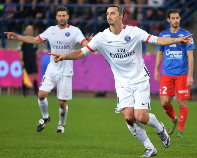<p>DOMINANS: Zlatan Ibrahimovic og Paris Saint Germain har ikke tapt en hjemlig liga eller cupkamp på ti måneder. Her jubler svensken etter scoring mot Caen rett før jul.</p>