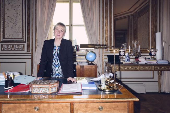 <p>PÅ KONTORET: Sveriges utenriksminister Margot Wallström.</p>