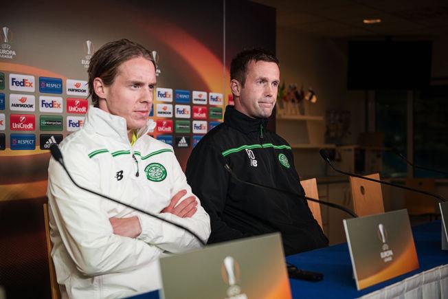 FÅTT KRITIKK: Stefan Johansen (til venstre) har fått kritikk i Skottland for spillet sitt denne sesongen. Hans manager Ronny Deila (til høyre) vet at Johansen er på vei tilbake i godt, gammelt slag nå.
