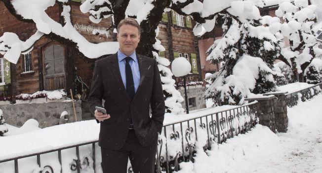 <p>KONTANT: Konserndirektør Trond Bentestuen i DNB er i Davos denne uken for å følge World Economic Forum.</p>