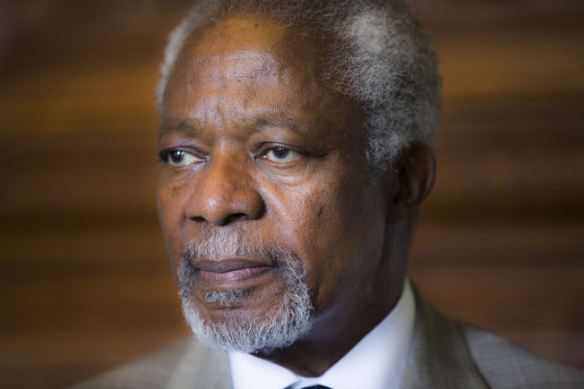 <p>FRYKTER VOLDELIGE BEVEGELSER: Tidligere generalsekretær i FN, Kofi Annan, her i forbindelse med et norgesbesøk i 2014.<br/></p>