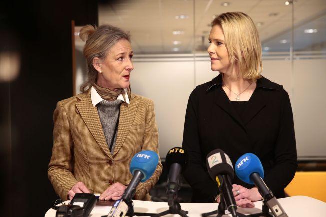 UENIG: Innvandringsminister Sylvi Listhaug (Frp) fikk besøk av Pia Prytz Phiri fra FNs høykommissær for flyktnigner i Oslo onsdag.