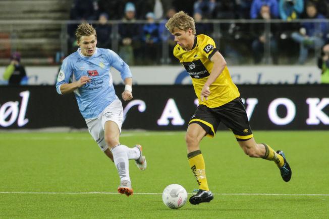 NESTEMANN UT? Kristoffer Ajer i Starts avgjørende play-off-kamp mot Jerv på Sør Arena i november. Det kan ha vært hans siste kamp i norsk fotball på en stund.