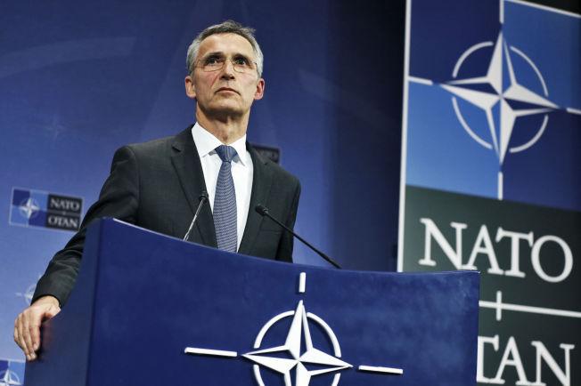 <p>BEKYMRET: Generalsekretær i Nato, Jens Stoltenberg, fra da han holdt pressekonferanse etter at Tyrkia hadde skutt ned et russisk jagerfly i november i fjor.<br/></p>