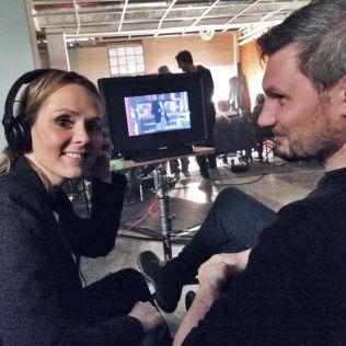 <p>BACKSTAGE: Linda Hofstad Helleand og line producer for filmen, norske Tor Arne Øvrebø.</p>