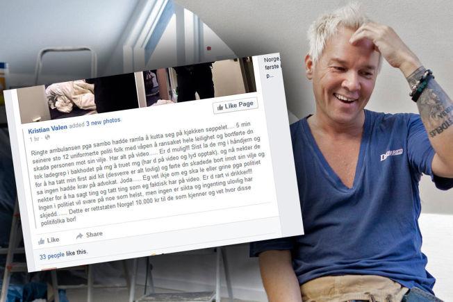<p>MELDINGEN: Denne Facebook-meldingen førte til at Kristian Valen ble siktet fredag.<br/></p>