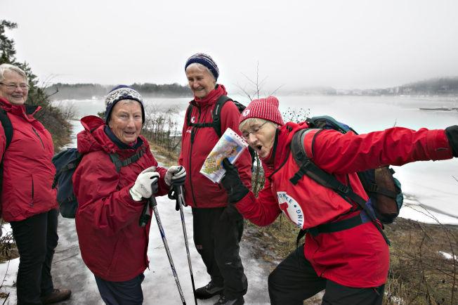 <p>TAR EN USAIN BOLT: - Vi må ut hver dag, for det gjelder å holde seg i gang, sier den fornøyde kvartetten som er med på DNT-tur på Høvikodden. Fra venstre: Ragnhild Måkestad (80), Tordis Skjeldrum (85), Kari Gulla Eriksen (86) og Anne-Britt Nilsen (74).</p>