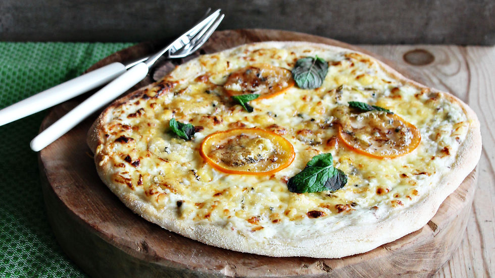 enkel pizzadeig med tørrgjær