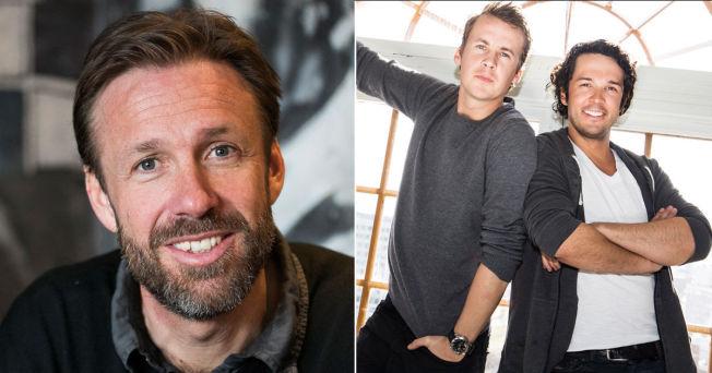 <p>KAN PUSTE LETTET UT: Thomas Giertsen og Ylvis-brødrene.</p>
