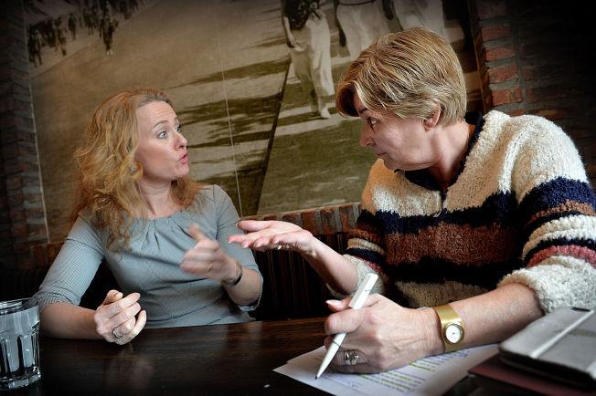 <p>HØR HER!: LO-leder Gerd Kristiansen (t.h.) og arbeidsminister Anniken Hauglie møttes for å prate om ledigheten onsdag. Det endte i en heftig verbal duell om arbeidsledigheten.</p>