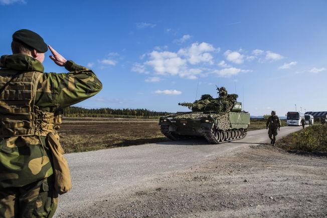 <p>Soldater fra Telemark bataljon (TMBN) under øvelsen Noble Ledger 2014.</p>